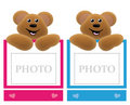 Teddy Bear Holding Frame Royalty Free Stock Photography - 13904067