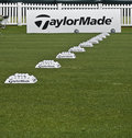 Row Of Practice Balls - Taylormade Stock Image - 13907431