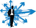 Business Man Which Way Stock Photography - 13922782