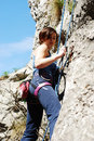 Woman Rock Climbing Royalty Free Stock Images - 13924229