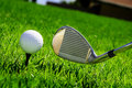 Ball And Golf Clubs Royalty Free Stock Photos - 13931318