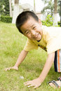 A Child Found Two Eggs Royalty Free Stock Photography - 13935077