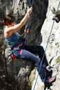 Woman Rappelling Royalty Free Stock Images - 13939769