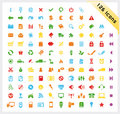 Colorful Set Of 126 Shiny Icons Stock Images - 13947964