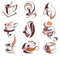 Big SET Of  Coffee,tea Elements Royalty Free Stock Images - 13959469