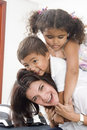 Mom And Children Stock Image - 13964131