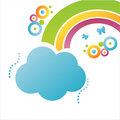 Colorful Cloud Background Royalty Free Stock Image - 13969986