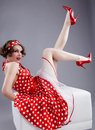 Pin-up Girl. American Style Stock Photography - 14000152