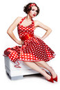 Pin-up Girl. American Style Royalty Free Stock Photos - 14000408