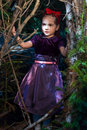 Snow White And Apple Litle Girl Stock Photos - 14000423