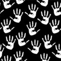 Seamless A Background With Prints Of Hands Stock Photo - 14005140