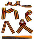 Set Of St. George Ribbons Royalty Free Stock Photography - 14013627