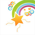 Colorful Star Background Stock Images - 14021394