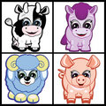 Set Of Little Animals - Farm Royalty Free Stock Photography - 14022267