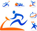 Fitness Silhouettes Stock Images - 14022484