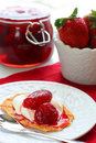 Waffles With Strawberry Jam Royalty Free Stock Photography - 14025277
