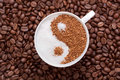 Yin Yang Coffee Royalty Free Stock Images - 14046129