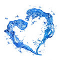 Heart From Water Splash Royalty Free Stock Photo - 14054555
