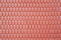 Pattern Of Roof Of Toy House, In Form Of Tile Stock Photography - 14060152