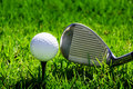 Ball And Golf Clubs Royalty Free Stock Photography - 14060497