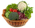 Basket With Colorful Vegetables Royalty Free Stock Photo - 14067655