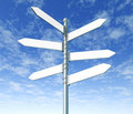 Street Signpost Multiple Blank Royalty Free Stock Images - 14070249