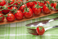 Tomatoes Fork And Knife Royalty Free Stock Photos - 14072228
