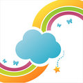 Colorful Cloud Background Royalty Free Stock Image - 14080016