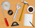 Work Tools And Desk Stock Photos - 14087943