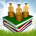 Graduation, Education And Scholarship Icon Royalty Free Stock Image - 14089166