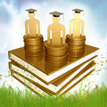 Graduation, Education And Scholarship Icon Royalty Free Stock Photography - 14089217