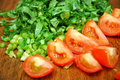 Cut Vegetables And Tomatoes Stock Photo - 14090960