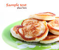 Pancakes On A Plate Royalty Free Stock Photo - 14097495