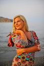Young Pretty Woman On The Beach Royalty Free Stock Images - 14097769
