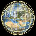 Earth In A Global Grid-Focus On Europe Stock Photography - 1418882
