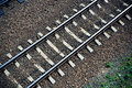 Railroad Track From Above Royalty Free Stock Photography - 14100377