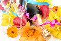 Champagne And Lilies Stock Images - 14102584