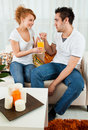 Young Boy And Girl With A Glass Of Orange Juice Stock Images - 14109824