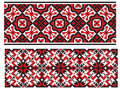Two Ukrainian Embroidery Royalty Free Stock Images - 14112609