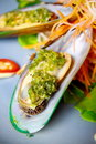 Mussel Apply Spicy Sauce. Stock Images - 14113334