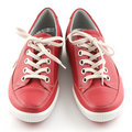 Red Leather Sneakers Stock Photos - 14121923