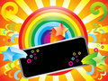 Abstract Colorful Rainbow Background With Sparkles Royalty Free Stock Image - 14124496