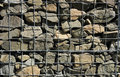 A Fragment Of Gabion Wall Royalty Free Stock Photography - 14149087