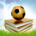 Golden Book About Soccer Stock Photo - 14149710