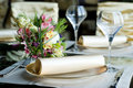 Decorated Table In The Restaurant Stock Image - 14154471