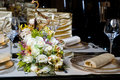 Decorated Table In The Restaurant Stock Photos - 14154573