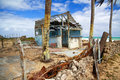 Broken Caribbean House On Beach Royalty Free Stock Images - 14154679