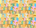 Pattern With People Stock Image - 14154951