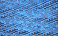 The Sky-blue Tiles Roof Royalty Free Stock Photo - 14158675
