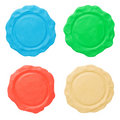 Set Of Blank Seals. Clipping Paths Royalty Free Stock Images - 14164099